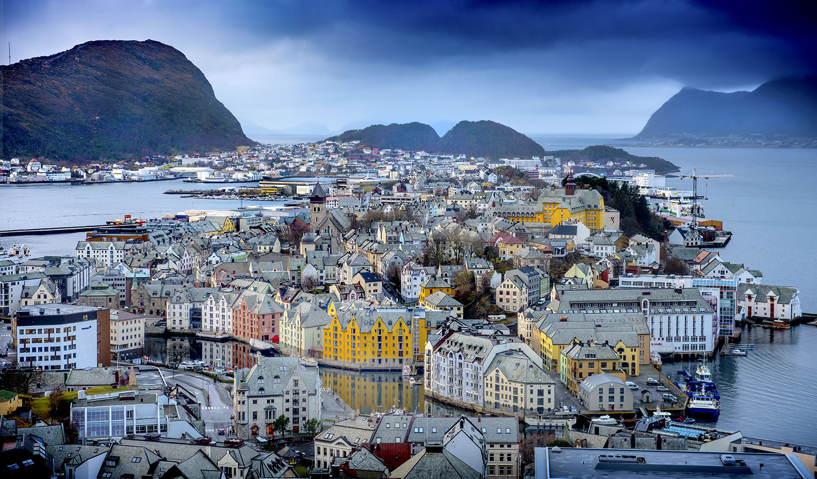 View over Ålesund.
