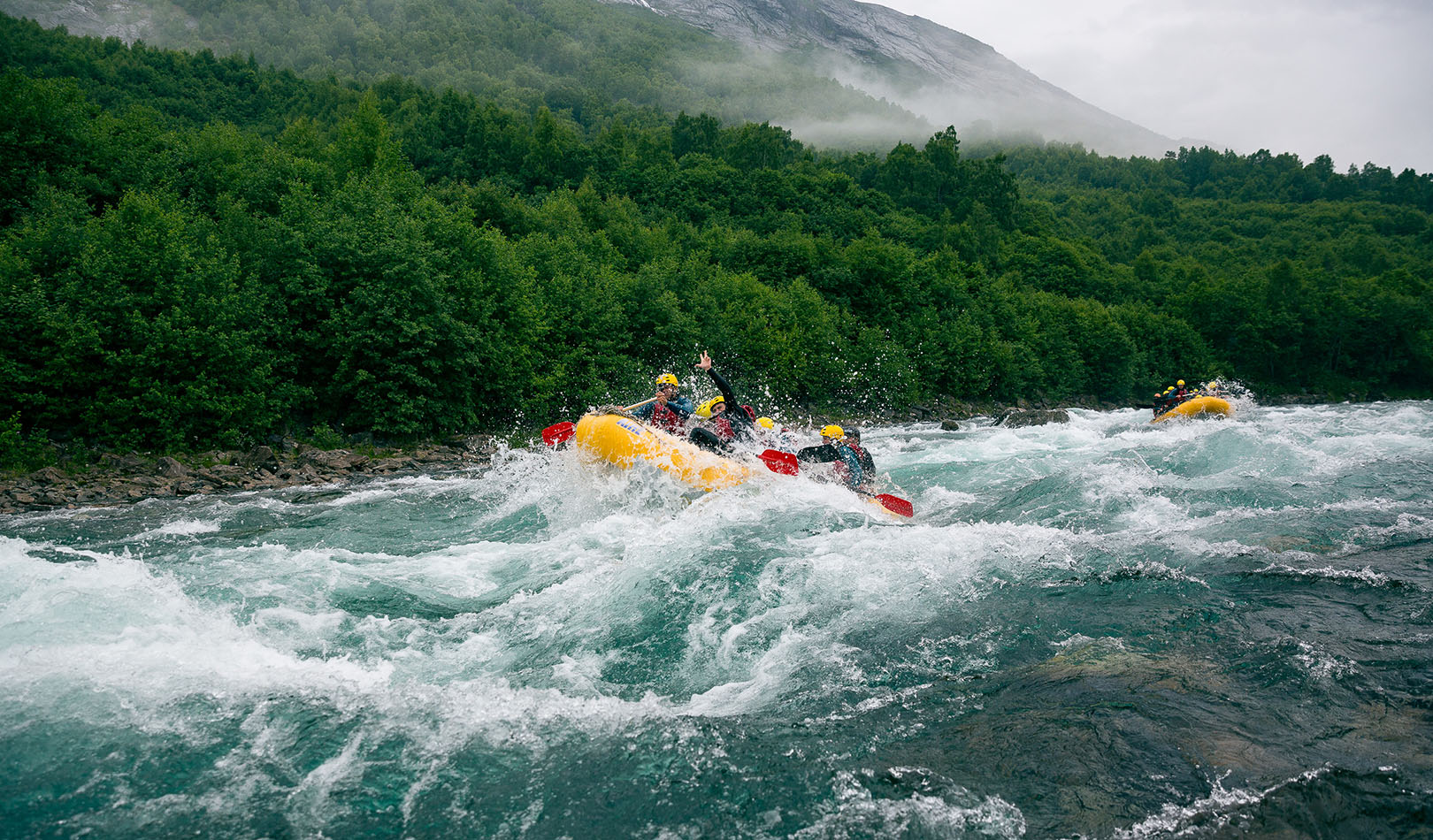 River rafting in Valldal.