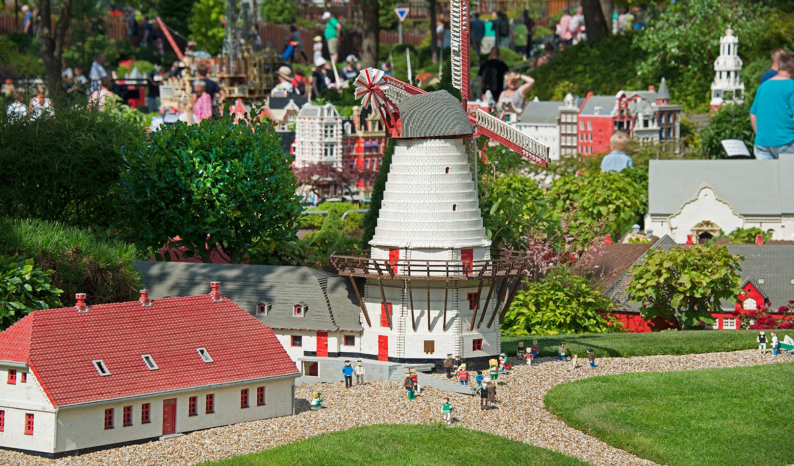 Small mill in Legoland, Billund.