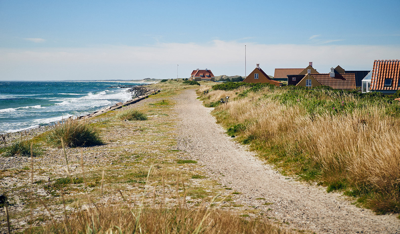 The coast of Skagen, Jutland, Denmark.