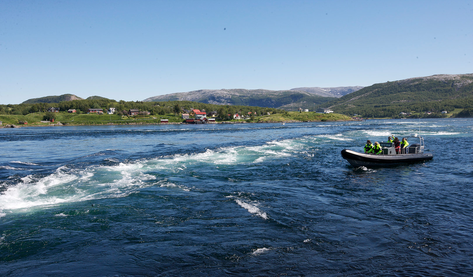 RIB tour in the maelstrom Saltstraumen outside Bodø.