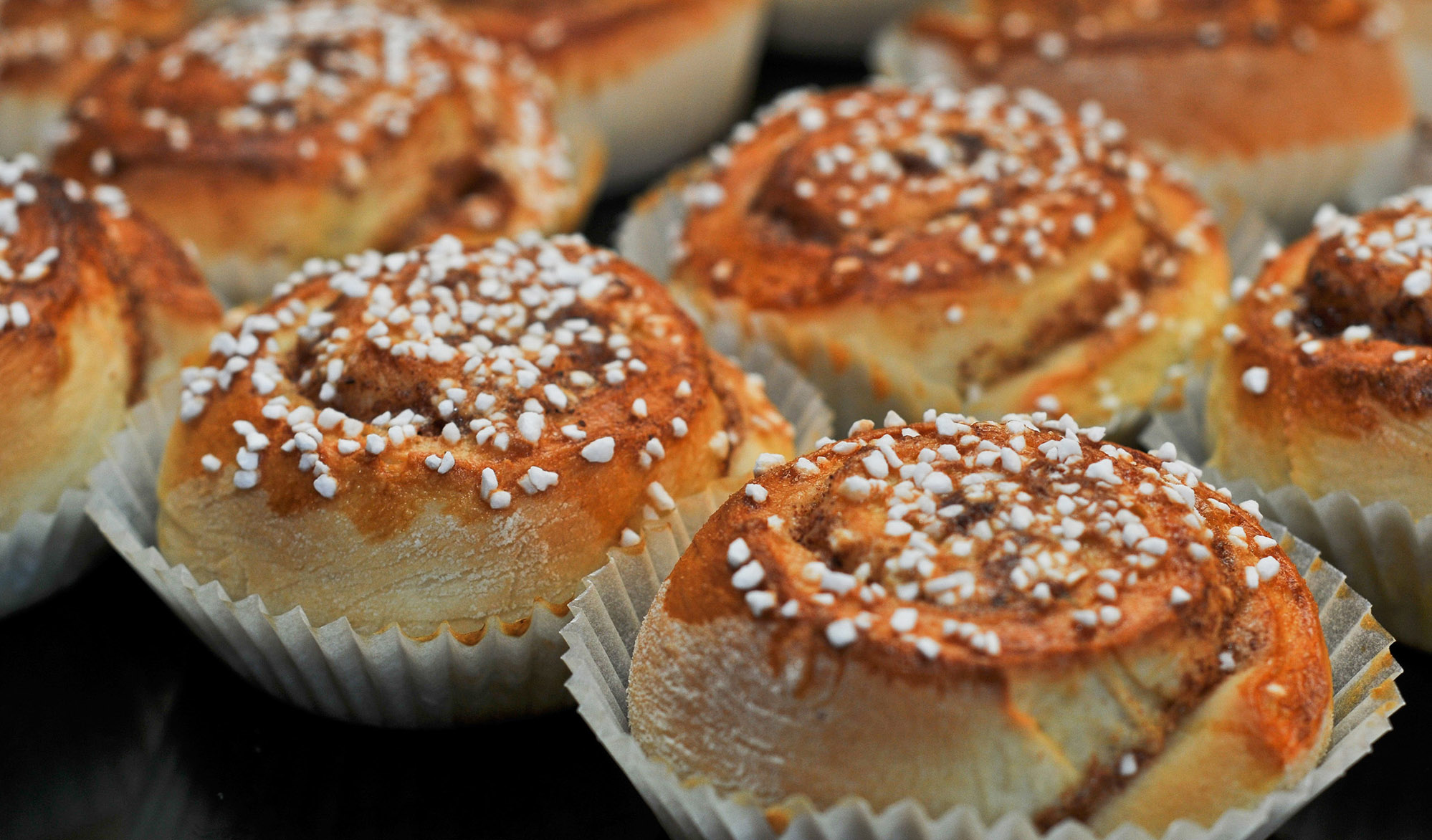 Swedish pastry Cinnamon buns called Kanelbullar