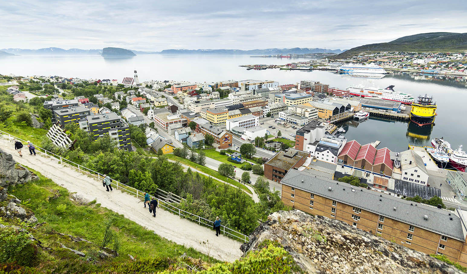 View of Hammerfest in summer.