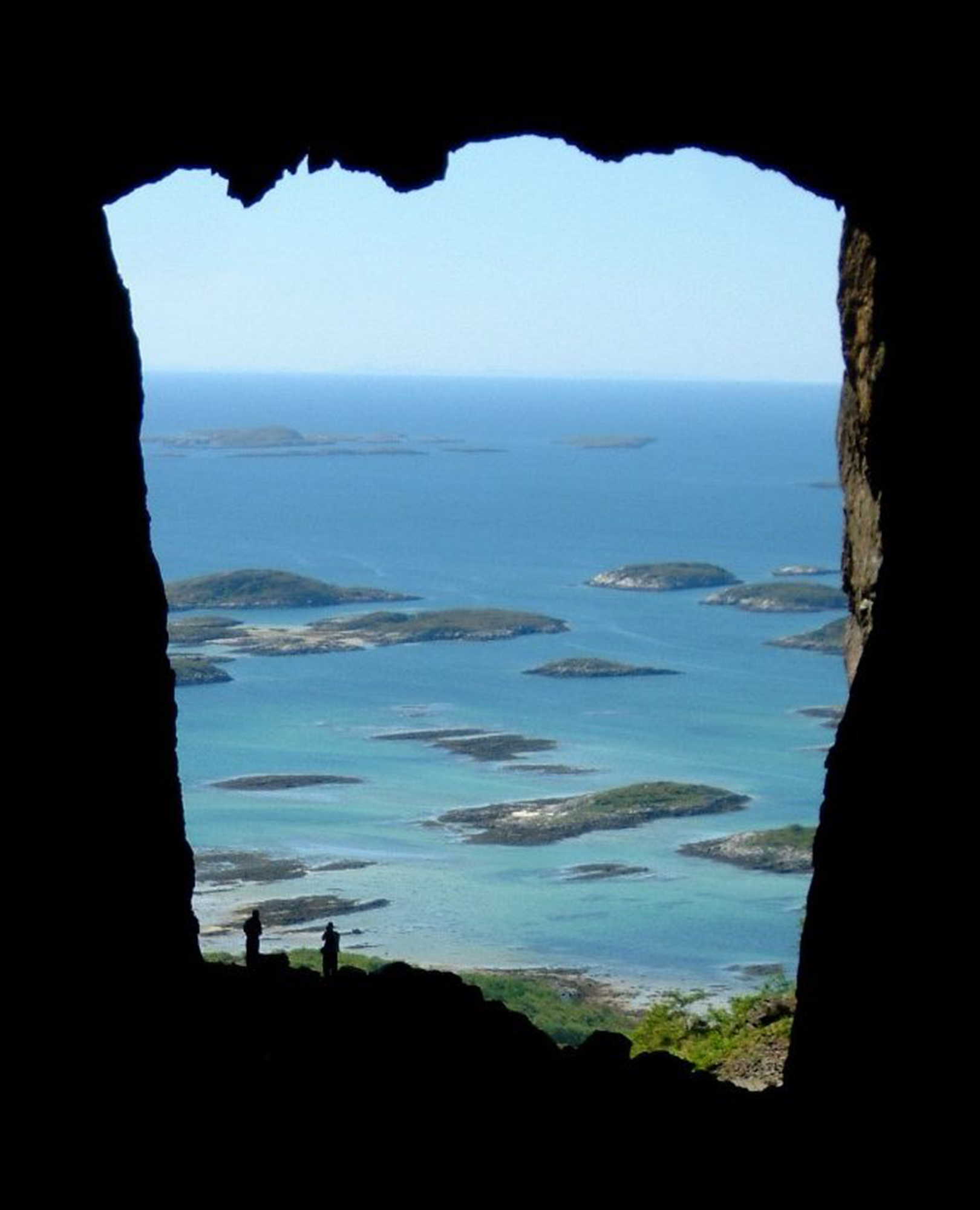 View from the hole through the mountain Torghatten, Brønnøysund.