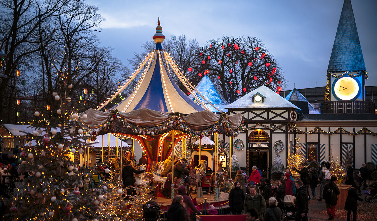 Tivoli is the 170-year-old amusement gardens in central Copenhagen.