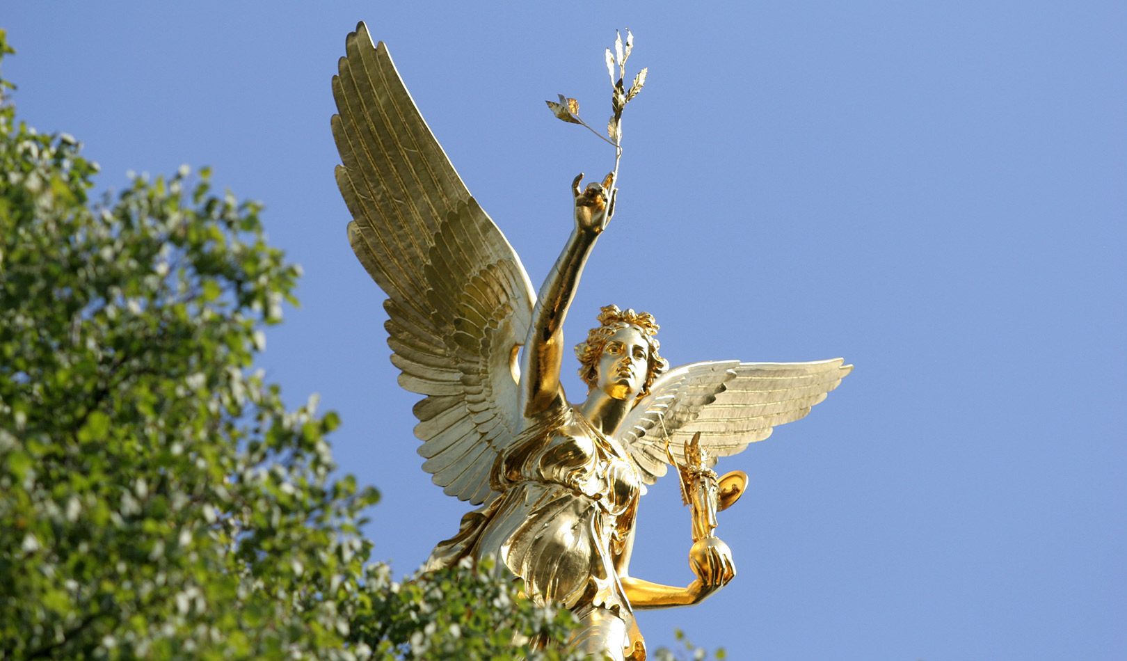 "Munich's ""Angel of Peace"" monument."