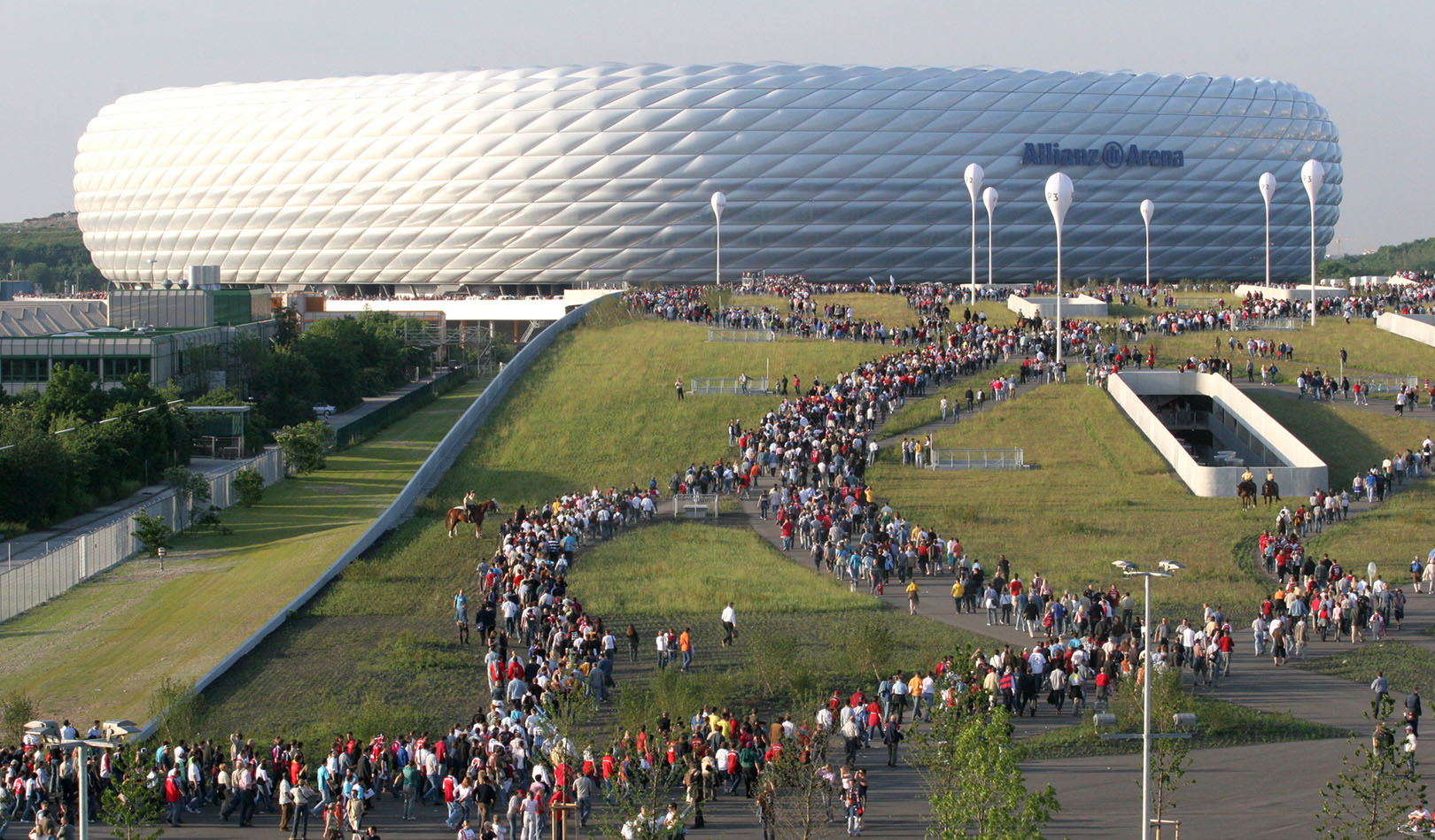 The Allianz Arena in Munich.