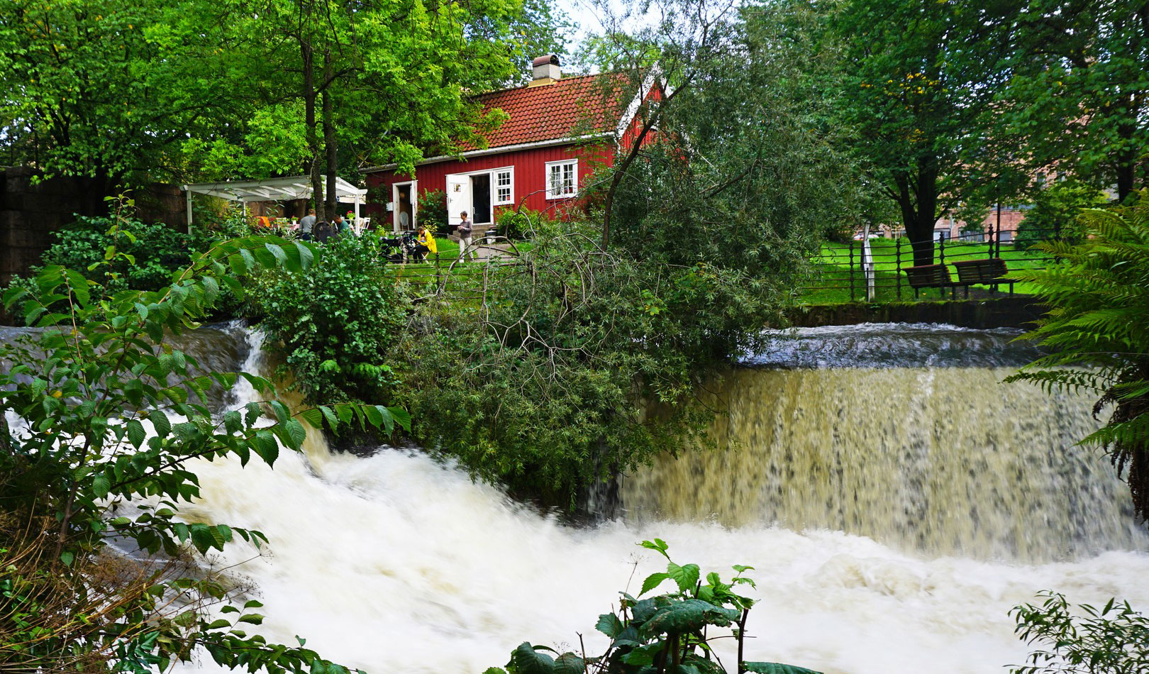 Akerselva - river and historical sites in the middle of Oslo