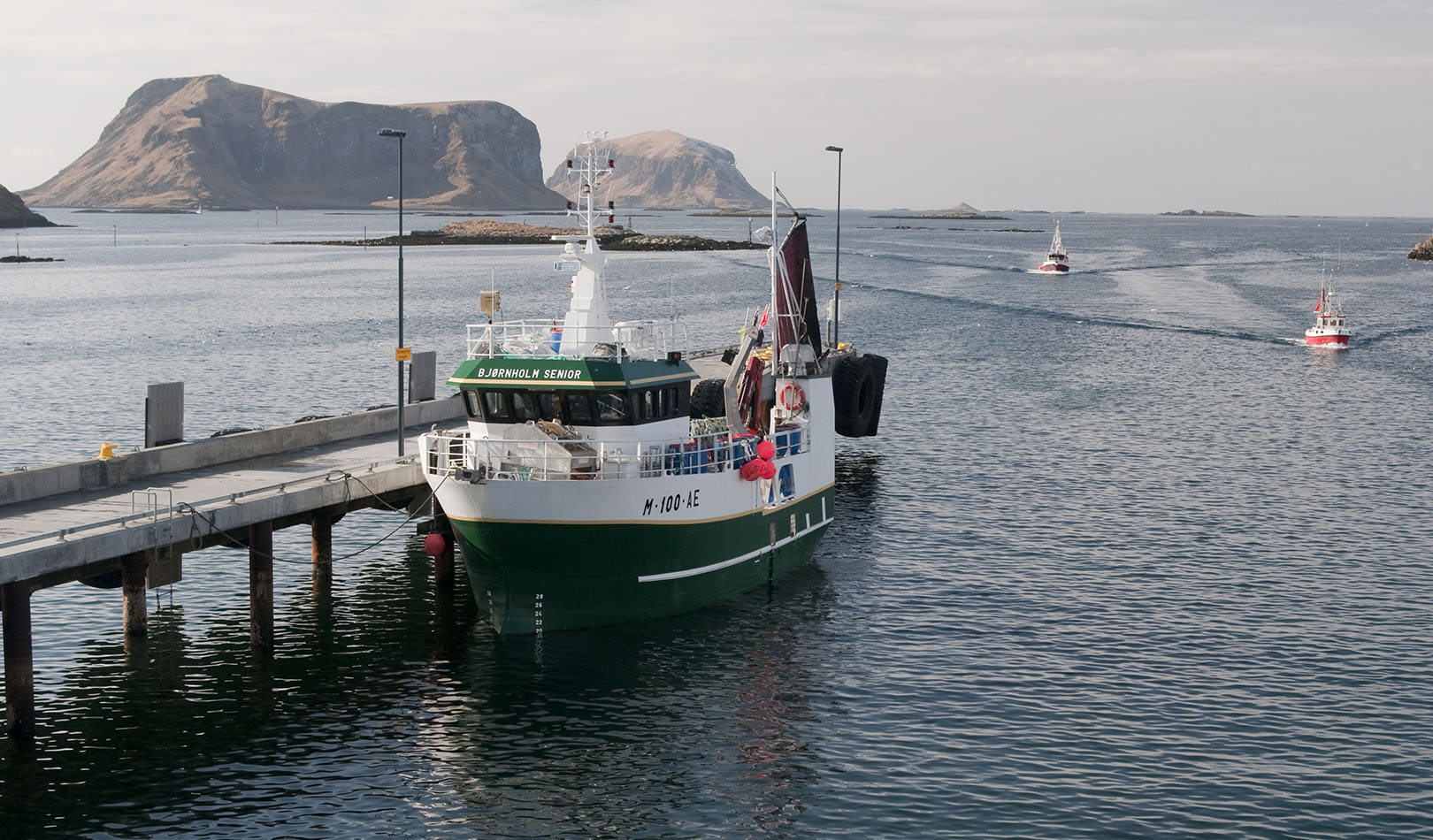 Fishing boat in Lofoten.