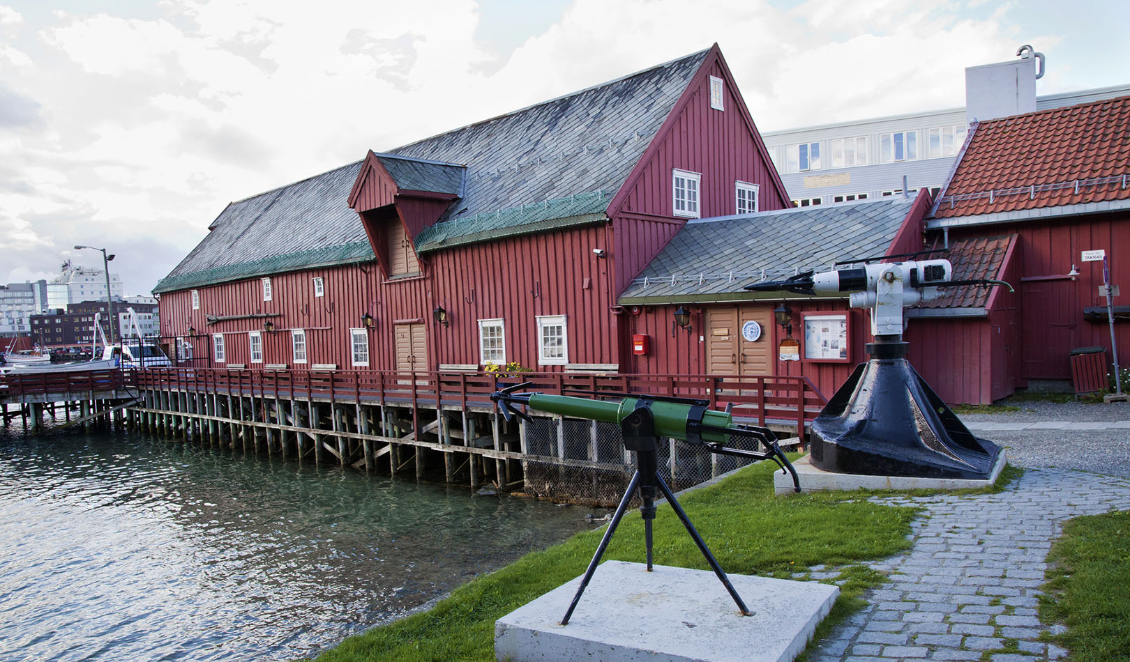 The Polar Museum by the harbour.